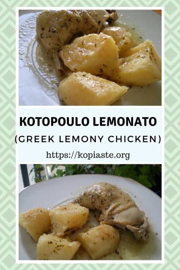 collage Greek kotopoulo lemonato image