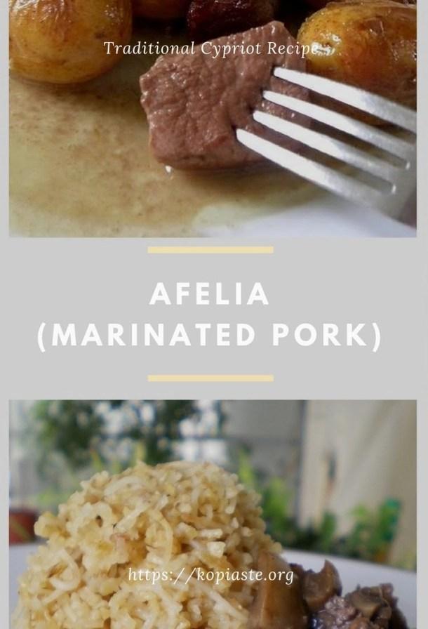 collage Afelia (marinated pork in red wine) image