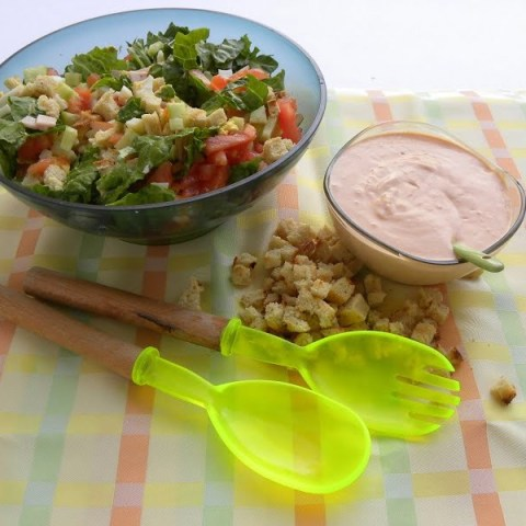 Easy to make Chef's Salad and Thousand Island Dressing