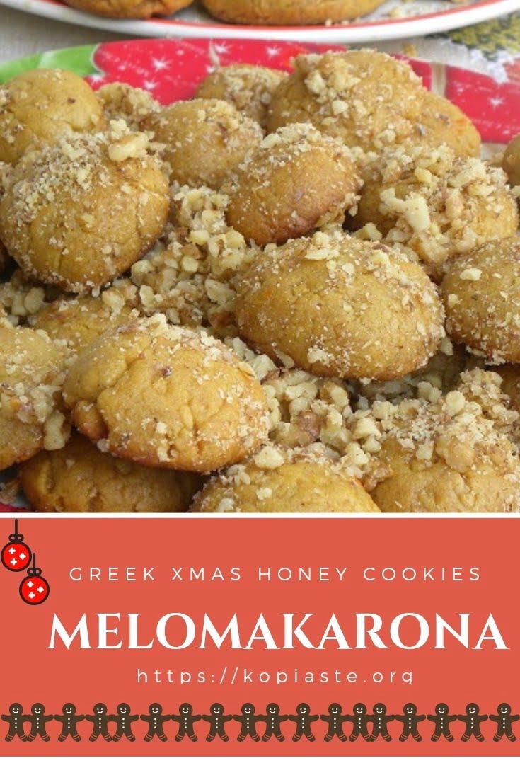 Melomakarona Honey Cookies With Video Kopiaste To Greek Hospitality