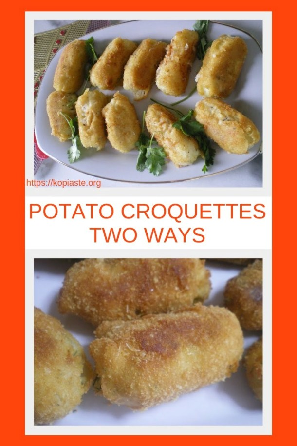 Collage Potato Cheese Croquettes image