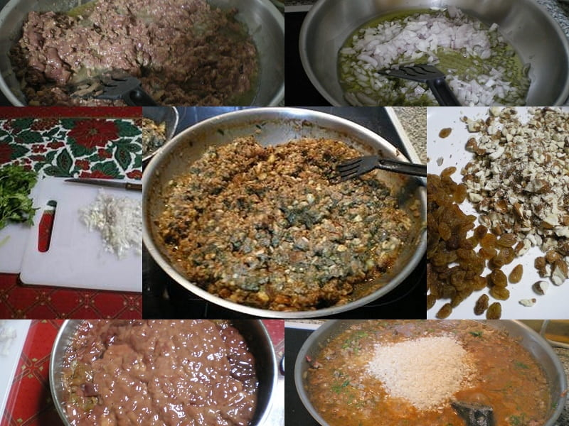 collage Turkey filling