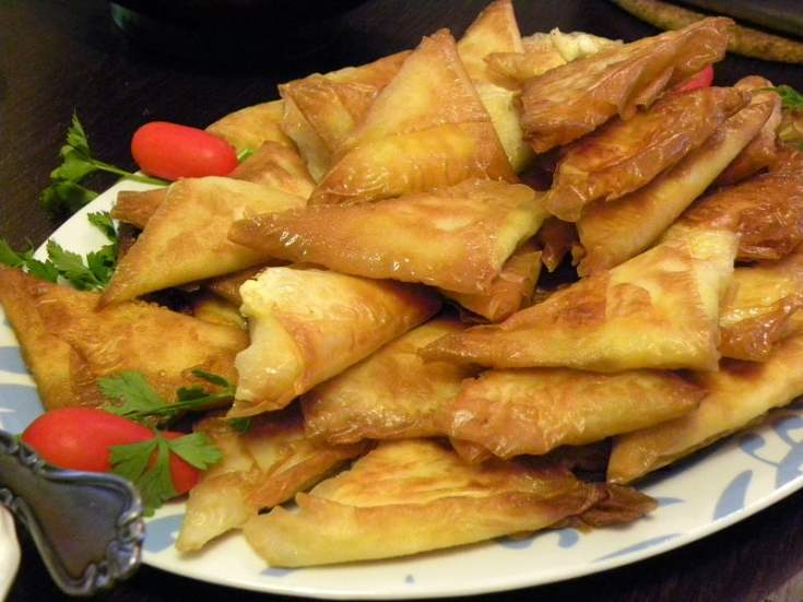 Tyropitakia (Cheese Triangles with Feta)