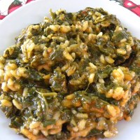 Spanakoryzo (spinach and rice)