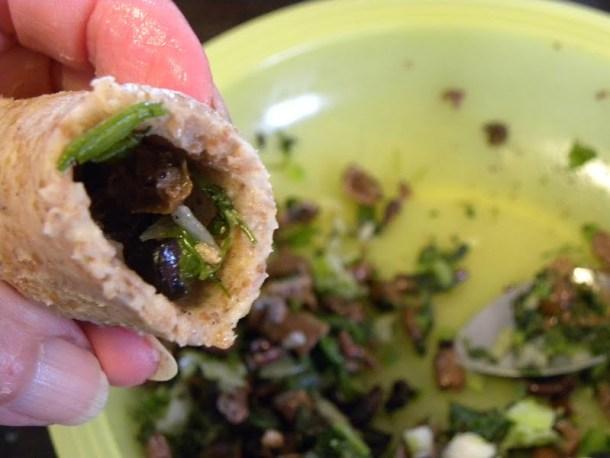 Vegan koupes with olives image