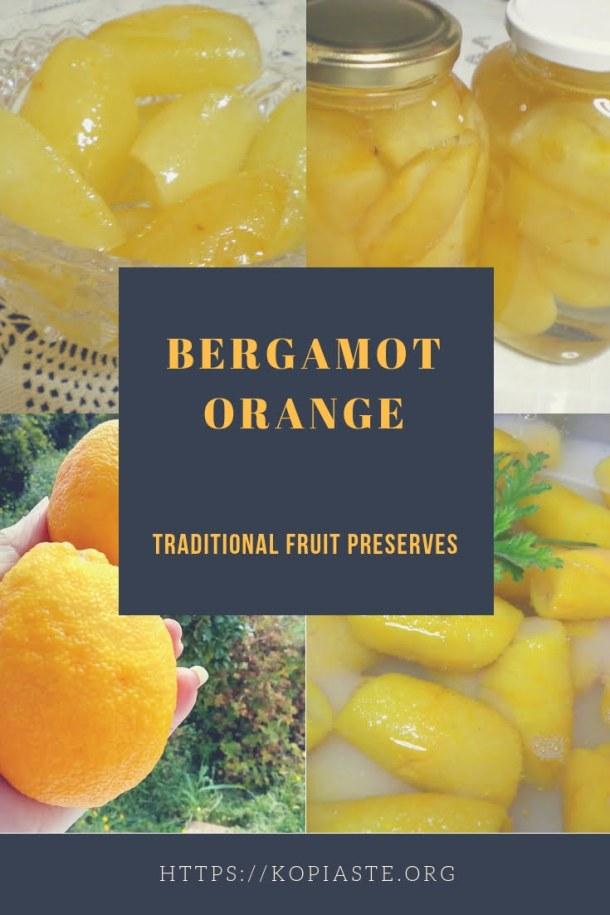Collage Bergamot fruit preserve image