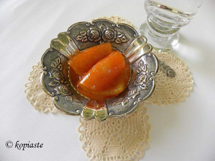 photo of orange peels fruit preserve