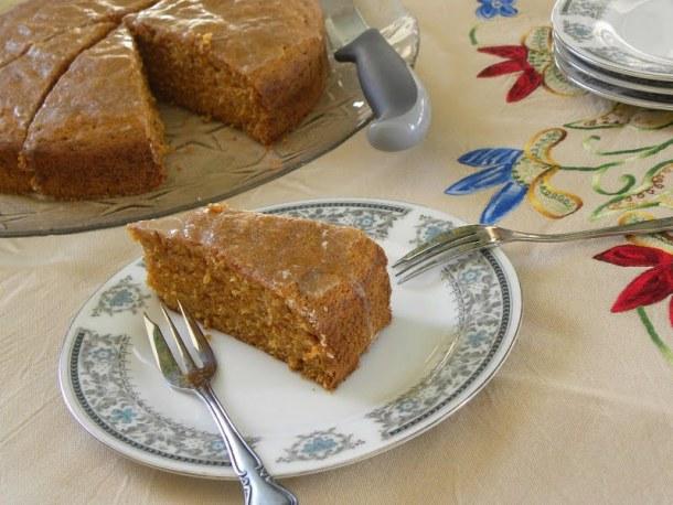 Carrot cake with lemon icing image