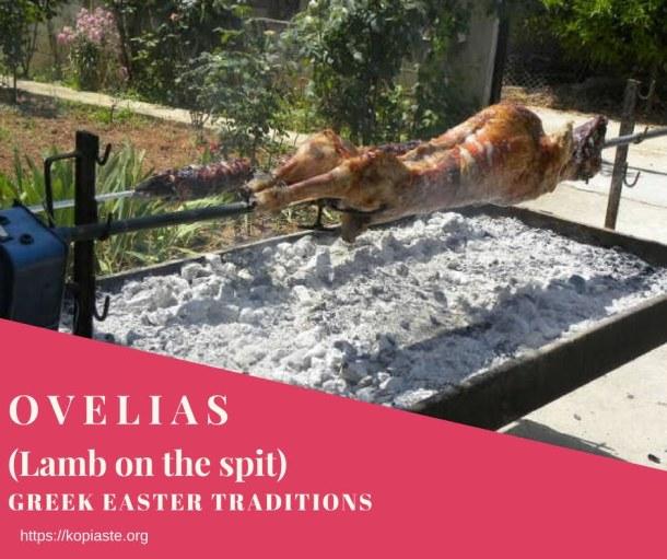 Ovelias lamb on the spit image