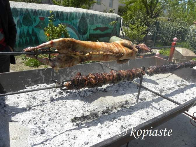 lamb on the spit image