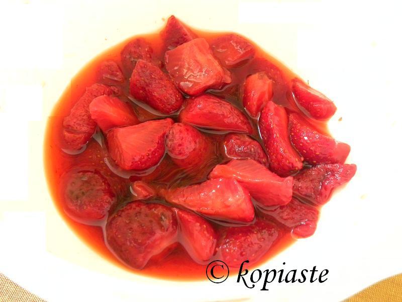 Marinated strawberries