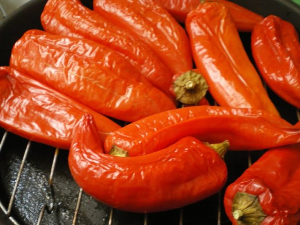 roasting peppers image