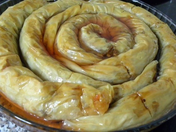 baklavas with quince syrup image