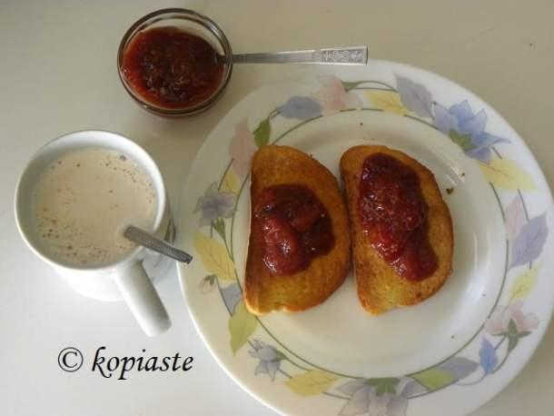 Fig, nectarine and peach jam
