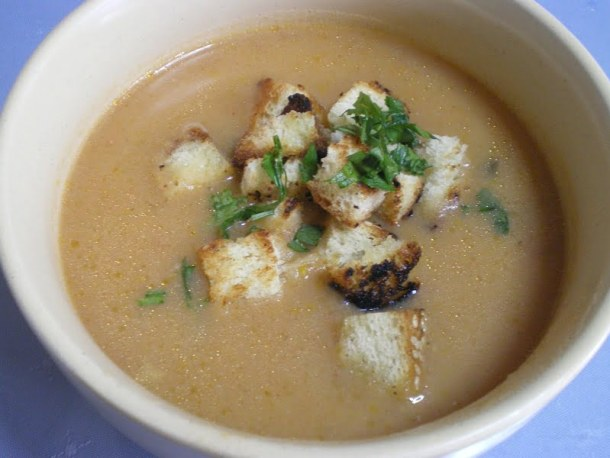 Vegetable veloute soup image