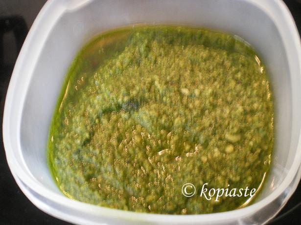 Pesto with cilantro