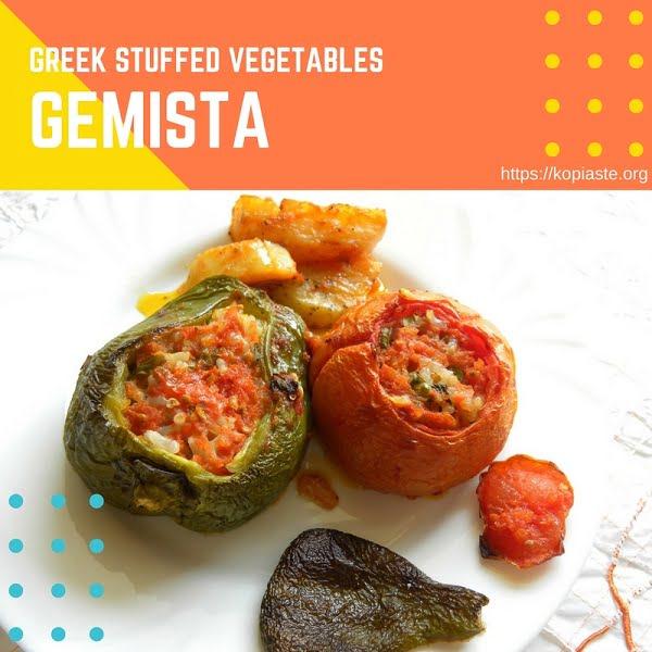 Pinterest Greek Stuffed Vegetables image