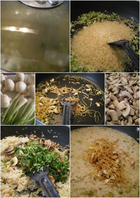 collage rice pilaf image