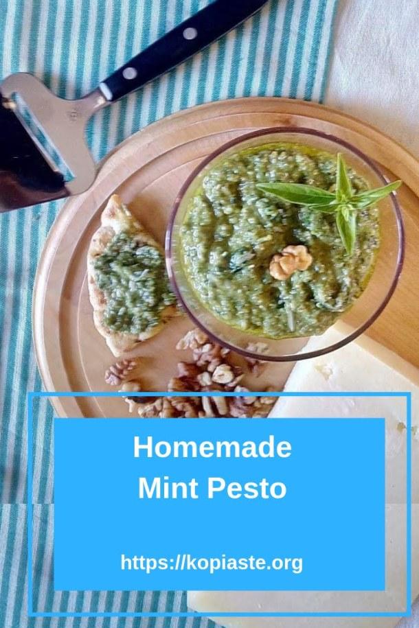 Homemade Mint Pesto image