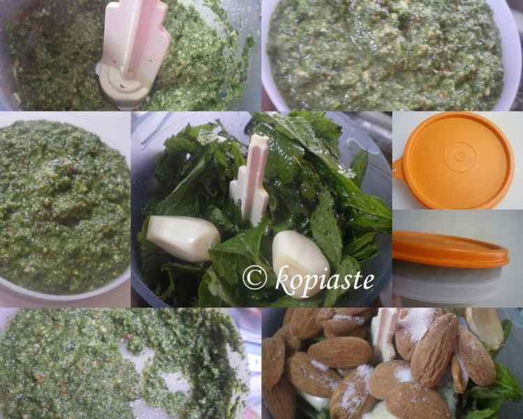 collage mint pesto image