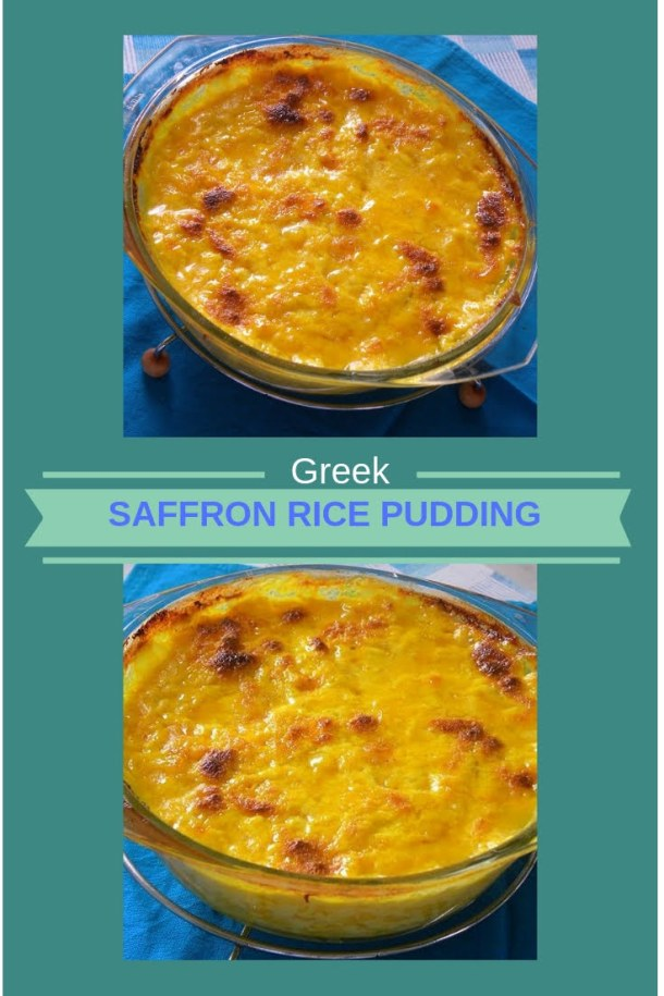 Collage saffron rice pudding image