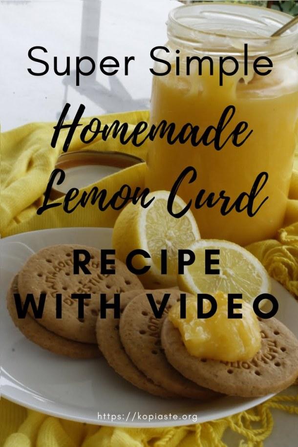 Homemade Lemon curd Pinterest Graphic image