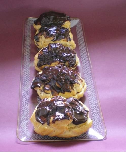 Eclairs with Chocolate Pastry Cream image