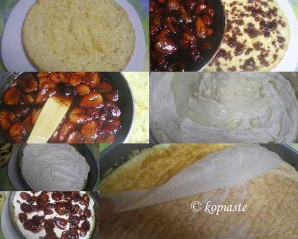 Collage assembling cake