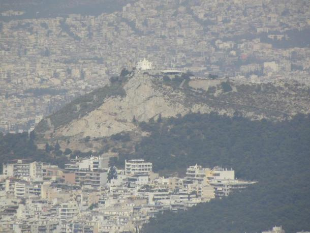 Athens view of Lycabettus