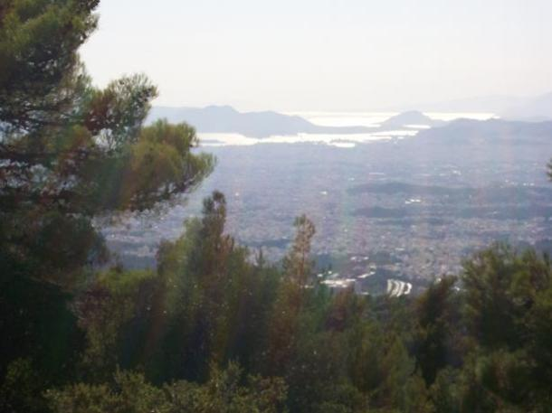 Athens view to Salamina