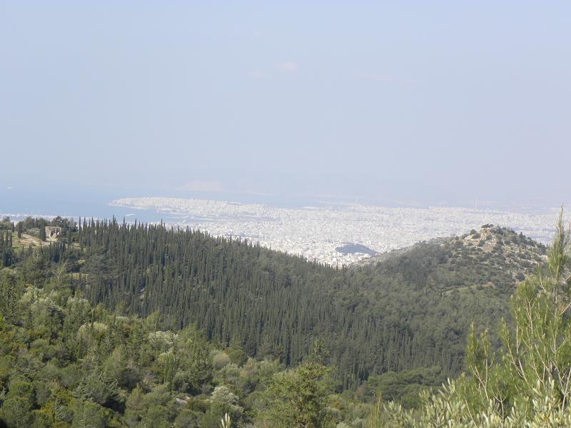 Athens view up to Piraeus