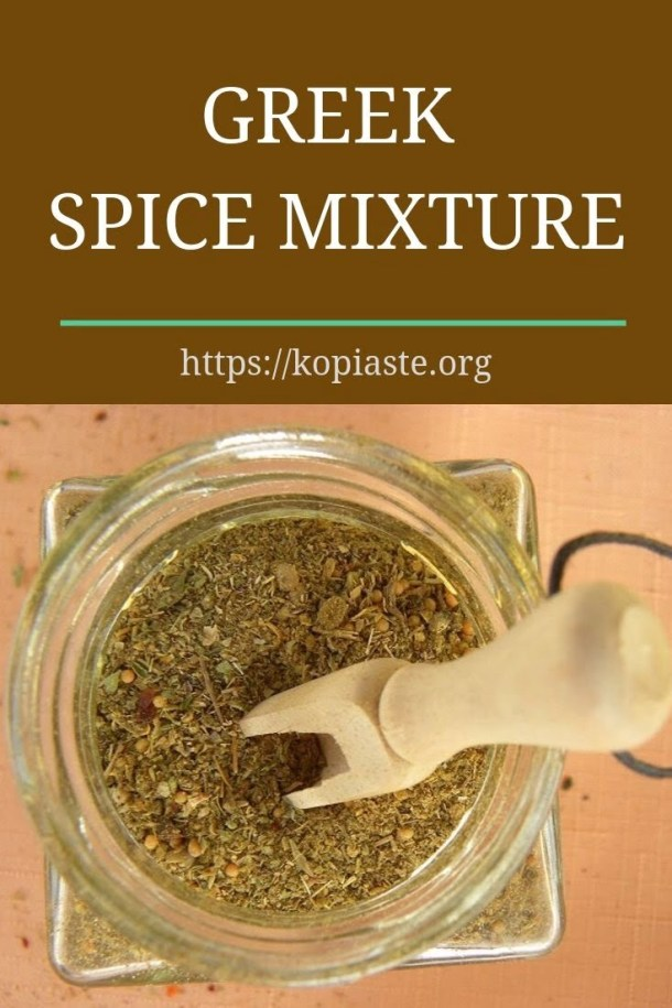 collage Greek Spice mixture image