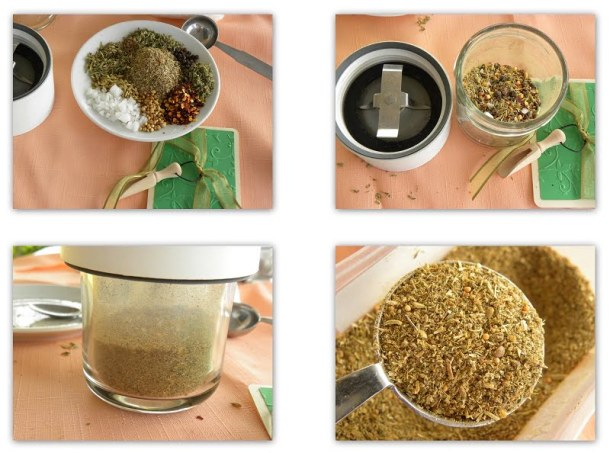 collage Greek Spice mixture picture