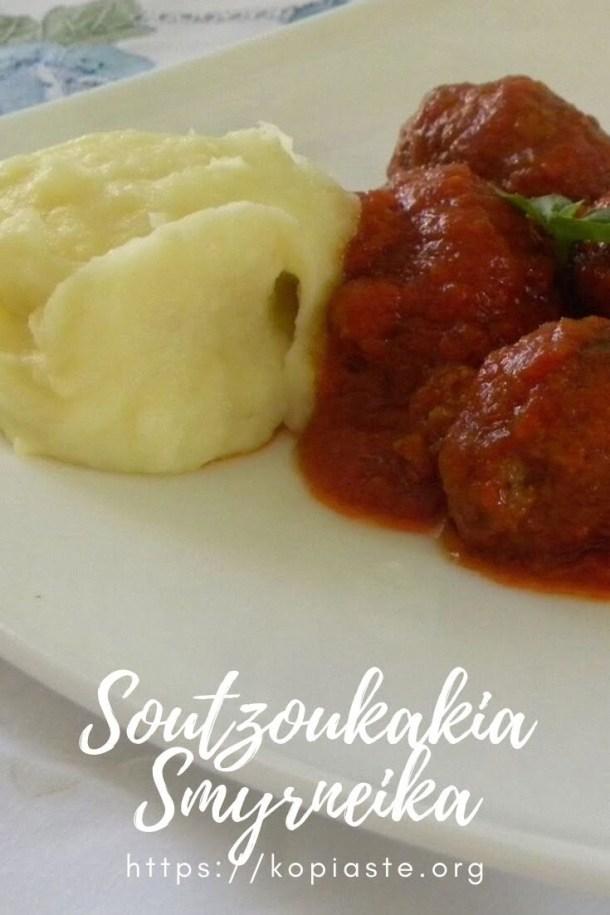 Collage Soutzoukakia with mashed potatoes image