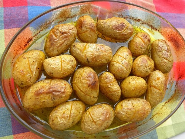 Greek lemony potatoes picture