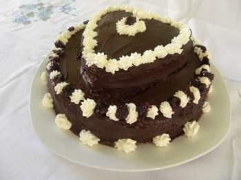 Chocolate Valentine's cake