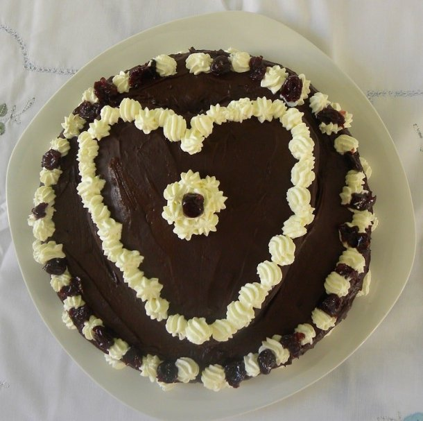 Two Tier Valentine's cake image