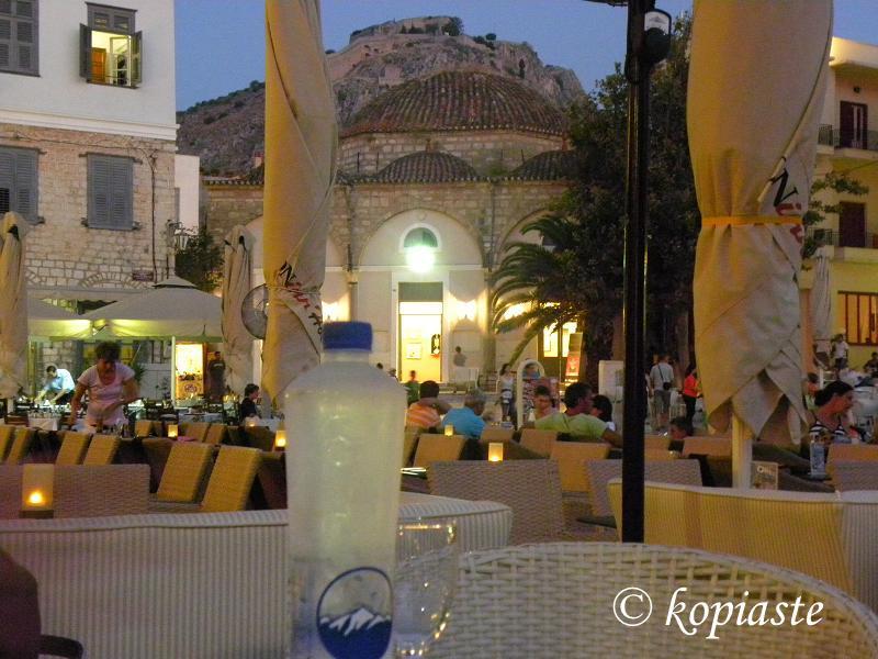 Constitution Square and Palamidi at night 2