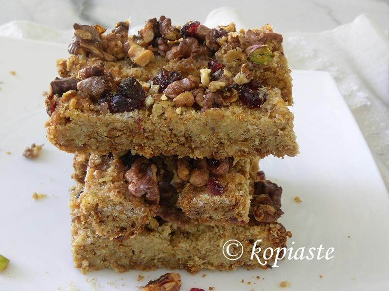 olive oil  oatmeal bars