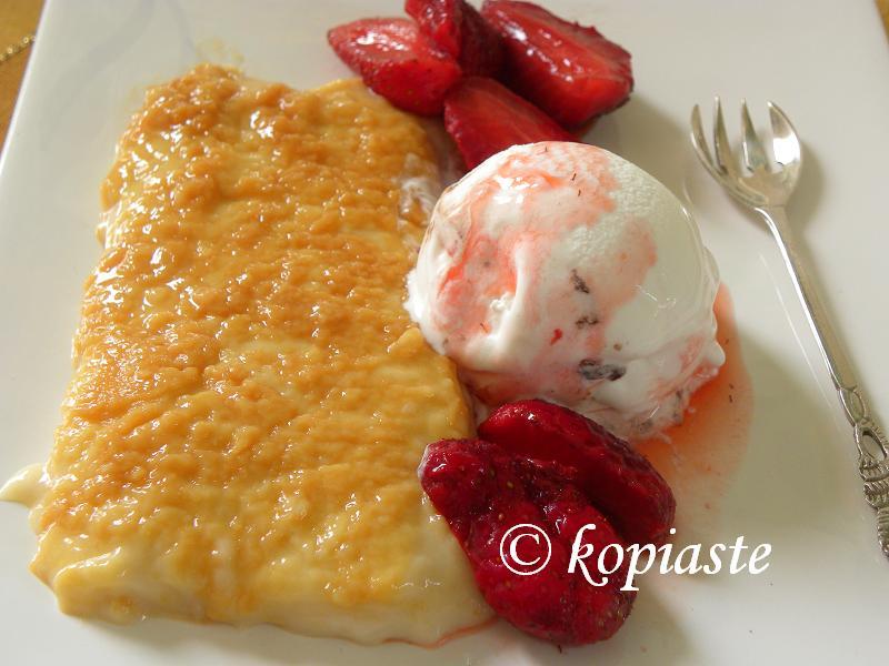 Caramelized Rice Pudding with ice cream image