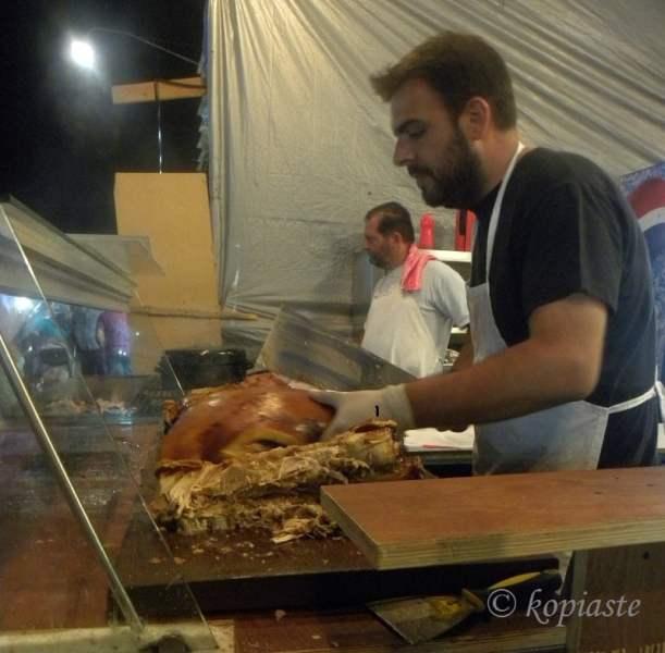 Bouzopoula crackling pig
