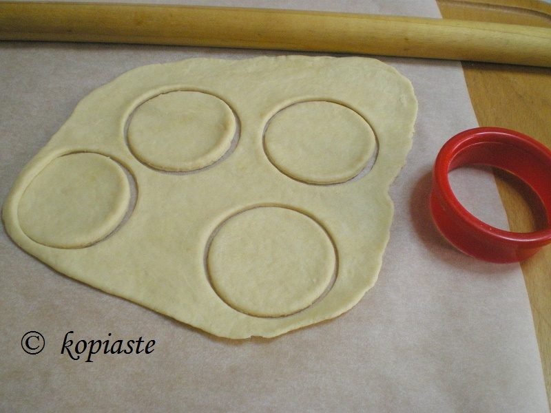 phyllo with cookie cutter