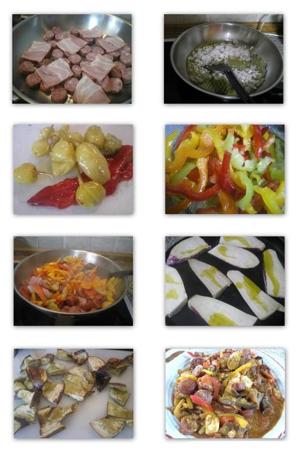 Collage Spetzofai with eggplants image