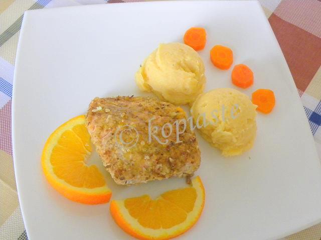 Salmon with Orange and Honey marked