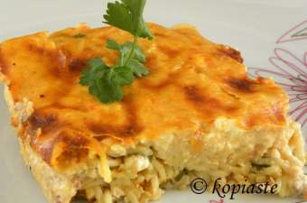 Anthotyro and Smoked Paprika Deconstructed Pastitsio with Eggless Bechamel