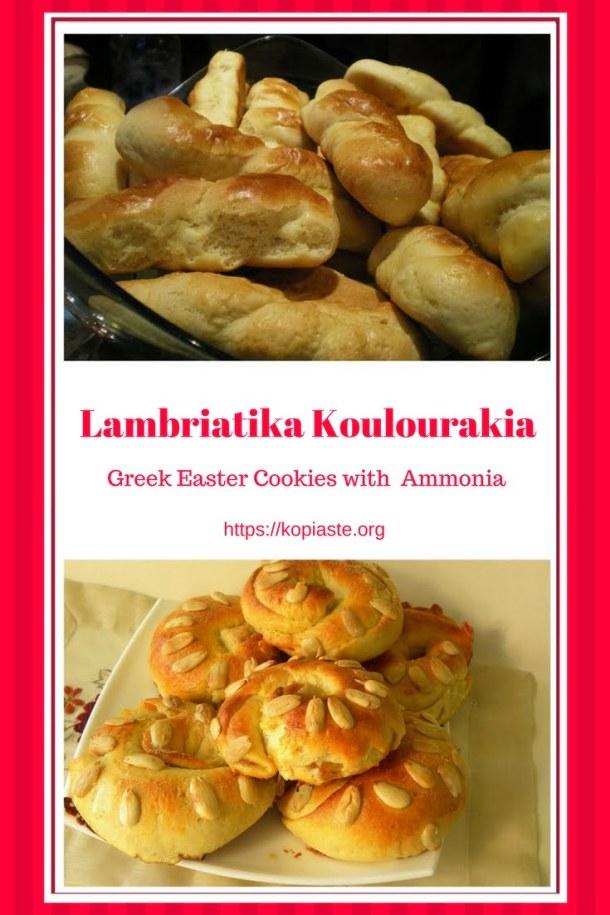 Lambriatika cookies for Pinterest image