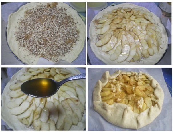 Collage making apple meringue image