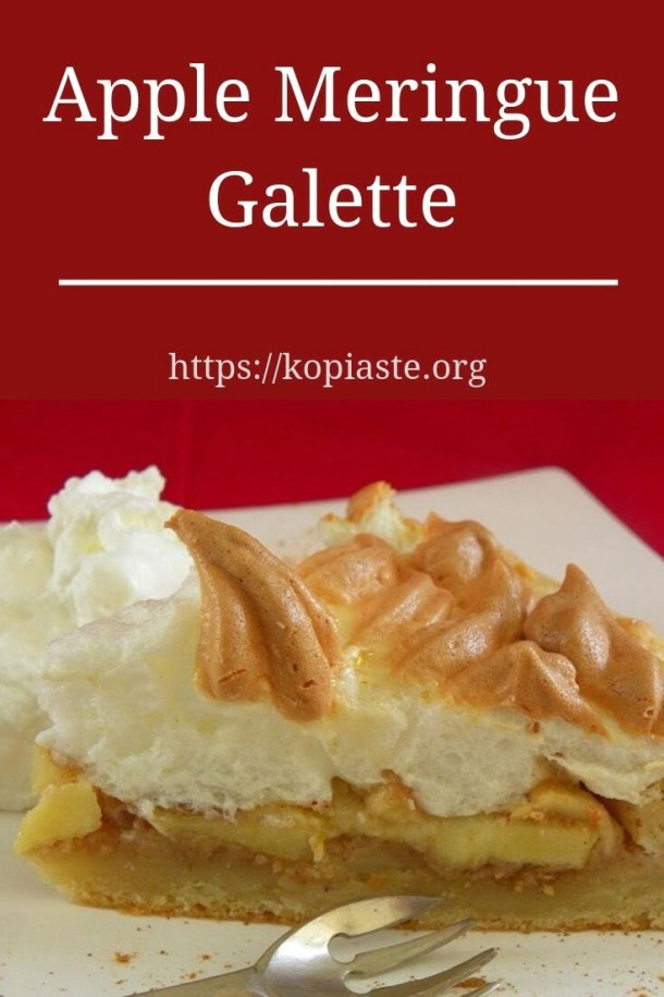 Collage Apple meringue galette image