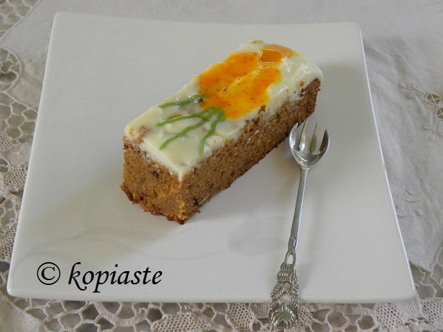 Carrot cake with Lemon Frosting