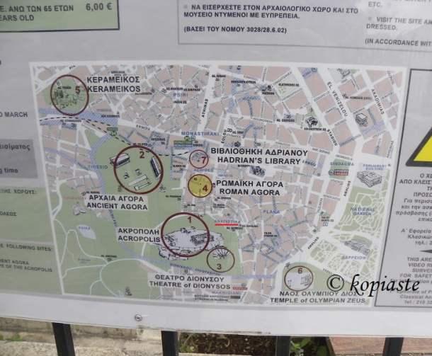 Anafiotika map of archaeological sites image